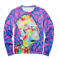 Hot 2017 3D Prited Paint Oil Color Style Mens Hoodies Long Sleeve O Neck Casual Autumn White Men Hoodie Hoody HoodedBrandClothin