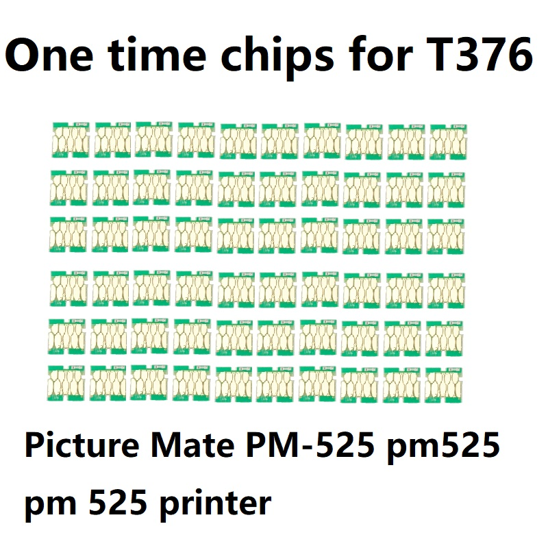 INK WAY 60 pcs one time Chips compatible for ink cartridge T376 for Epson Picture Mate PM-525 pm525 pm 525 printer chip