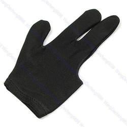 1 шт. черный Кий бильярдный перчатки для игры в пул 3 пальцы перчатки