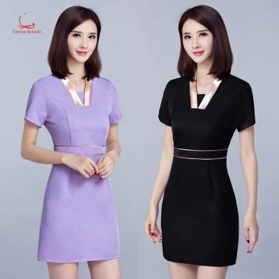 New Beautician Work Clothes Summer Beauty Salon Work Clothes Dress Health Technician Short Sleeve Clothing