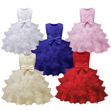 Flower Girl Dress For Wedding Baby Girl 2 3 4 5 6 7 8 Years Birthday Children Clothing Girls Dresses Vestidos Kids Party Clothes цена 2017