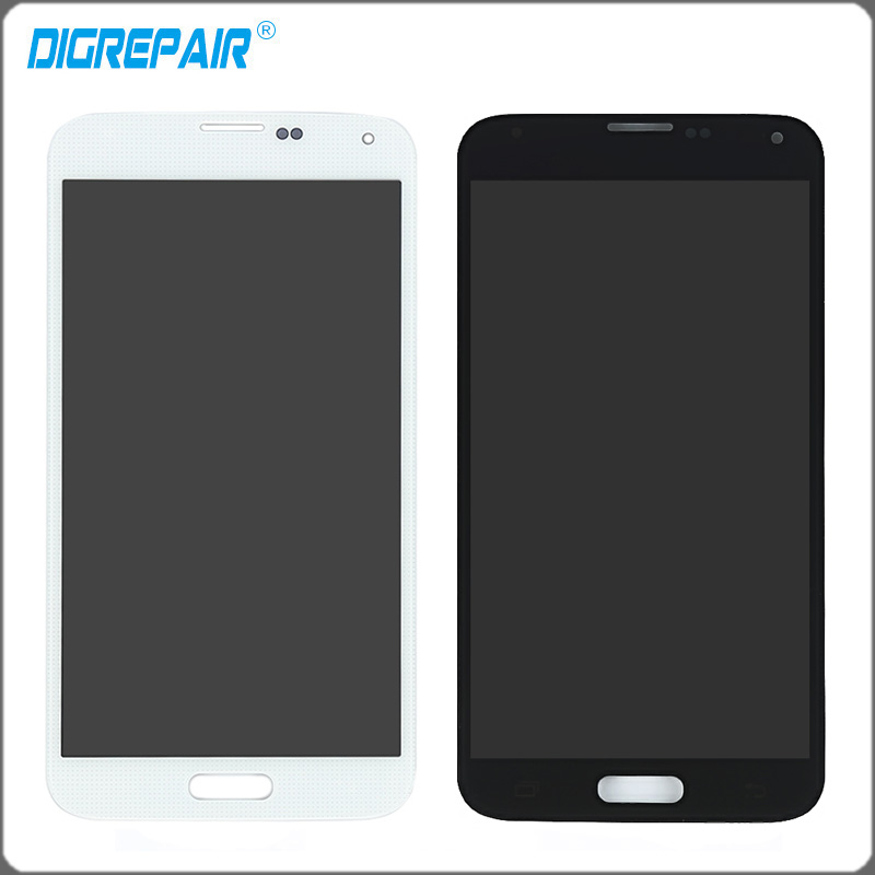 imágenes para Blanco LCD Negro Para Samsung Galaxy i9600 S5 G900 G900F Pantalla LCD de pantalla táctil con la Asamblea del digitizador de Piezas, Envío Libre envío gratuito!