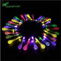 6 Meters 30Pcs LED Solar Bubble Water Droplets String Lights New Year Christmas Decor Christmas Tree