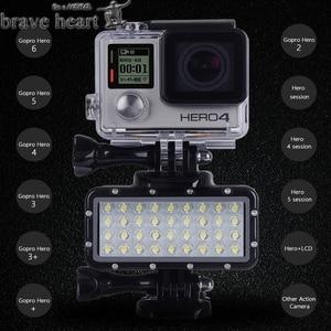 Image 5 - Yeni Go pro Hero 5 36 LED boncuk dalış lambası su geçirmez işık Gopro 6 5 4 Xiaomi Yi 4K + yi Lite mijia SJCAM SJ8 aksesuarları