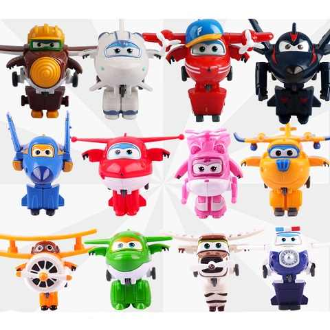 Super Wings Mini Airplane Robot Mira Paul Bello baby toys Action Figures Super Wing Transformation Animation for Children Gift