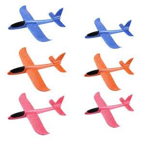Image 3 - 5 stücke Große Hand Starten Werfen Segelflugzeug Aircraft Inertial Schaum EPP Flugzeug Spielzeug Kinder Flugzeug Modelle Outdoor Spaß Spielzeug freies verschiffen