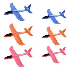 Image 3 - 5pcs 큰 손 발사 글라이더 항공기 관성 거품 EPP 비행기 장난감 어린이 비행기 모델 야외 재미 장난감 무료 배송