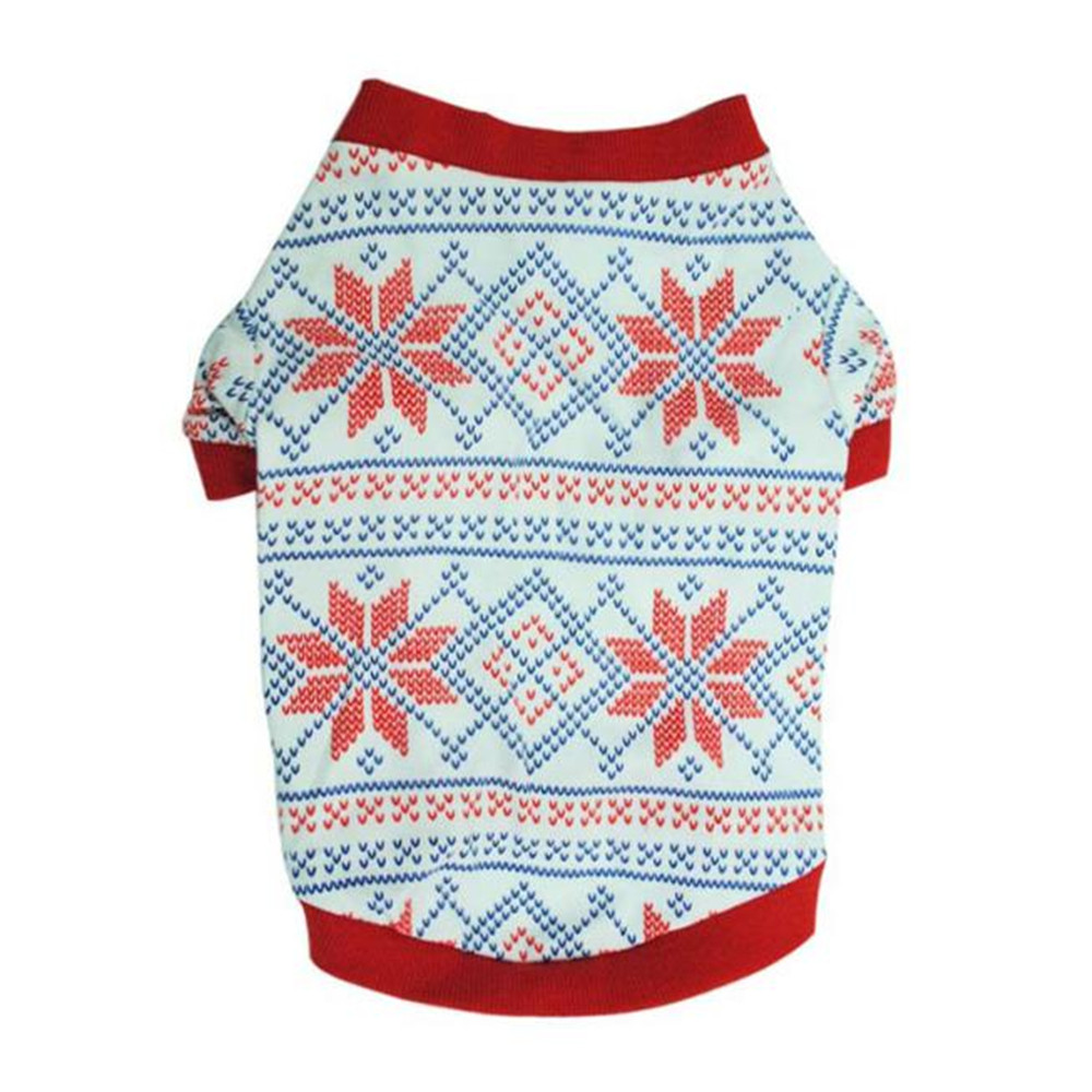 XS/S/M/L Honden Kledij Pet Clothes Christmas Universal Dogs Snowflake Christmas Pet Clothing Cotton Cotton Blend 20% OFF #01