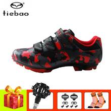 цена на Tiebao Professional MTB Cycling Shoes Mountain Bike Athletic Bike Shoes Self-Locking Riding Bicycle Shoes SPD pedals Sneakers