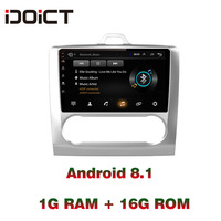IDOICT Android 8.1 Car DVD Player GPS Navigation Multimedia For Ford Focus Radio 2005 2011 car stereo bluetooth