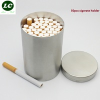 fee shipping Creative cigarette large capacity Stainless steel Tobacco cans Metal pipe Storage tank man/woman gift