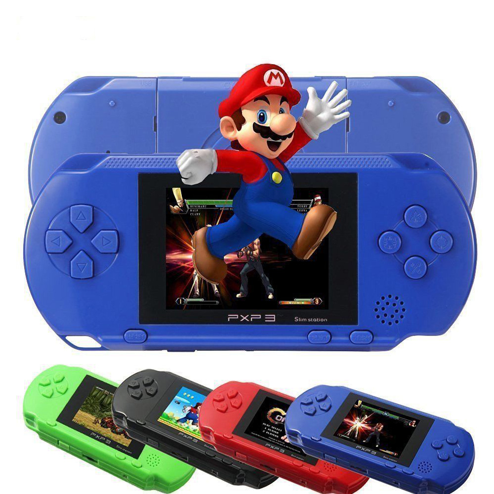 Portable 16 Bit PXP3 Handheld Game Player Video Game Console with AV Cable+2 Game Cards Classic Child Games PXP 3 Gaming Players