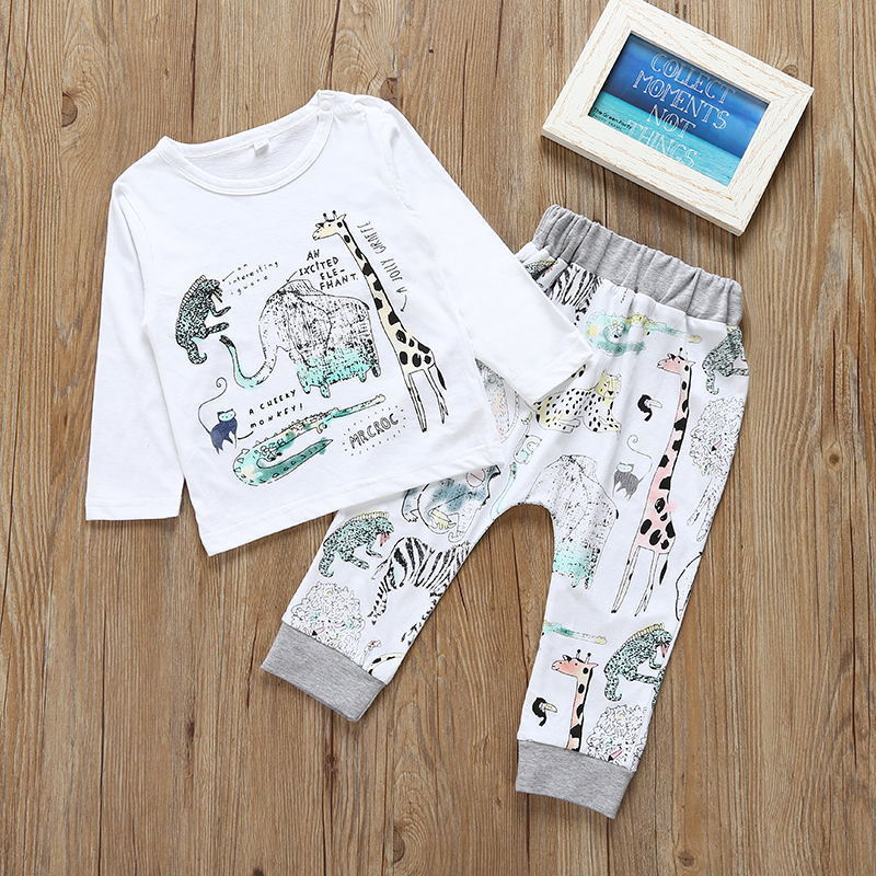 2017 Autumn Baby Boy Kid Casual T-shirt Tops+Long Pants clothing kids clothes boys clothes Outfits Clothes Set