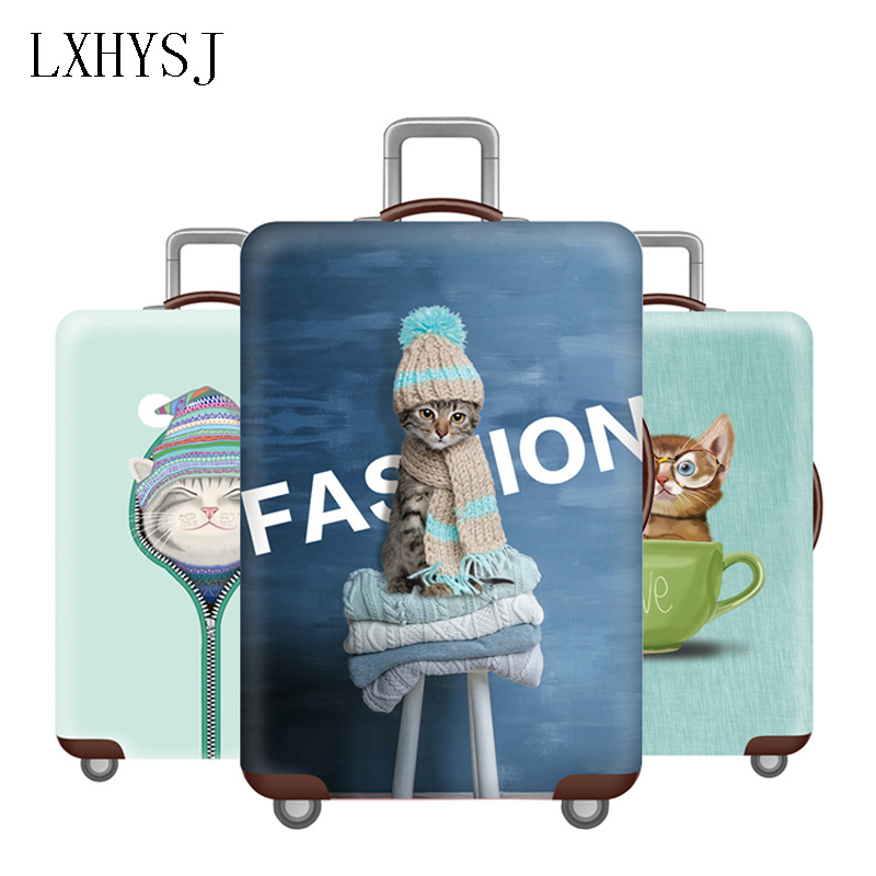 Luggage Cover Elastic Luggage Protective Covers For 18-32 Inch Trolley Suitcase Case Dust Protective Cover Travel Accessories