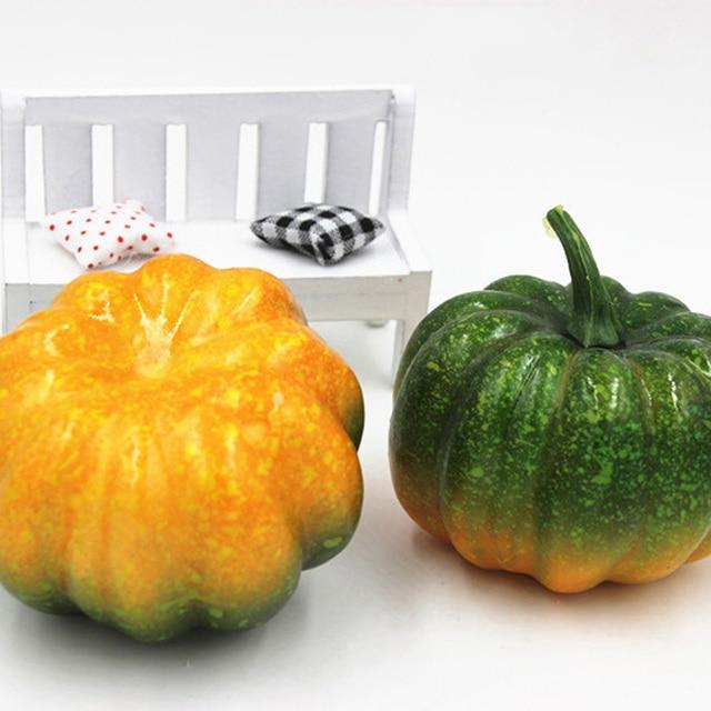 16 Pcs Mini Artificielle Faux Mousse De Citrouille Pour Thanksgiving  Automne Halloween Table Vase De Remplissage