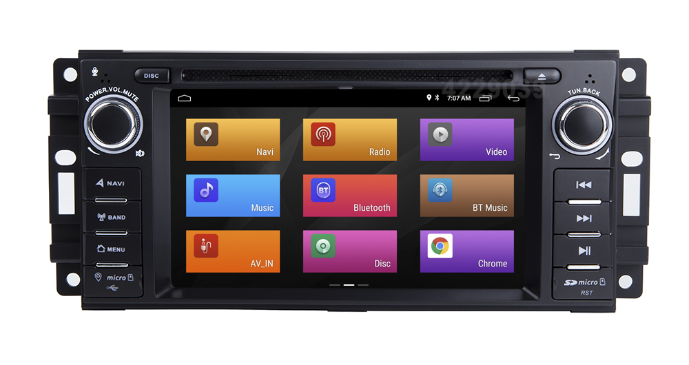 Clearance Android 8.1 Car DVD Player for JEEP COMMANDER/GRAND CHEROKEE  with Radio WiFi 10