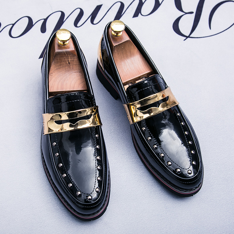 Men Luxury Brand Shoes Top Quality Fashion Shoe For Men Patent Leather Mens Casual Footwear Gold Silver Men Wedding Pointy Shoes european style real ostrich grain leather qshoes shoes mens brand design business dress luxury men fashion top shoe ym723 63