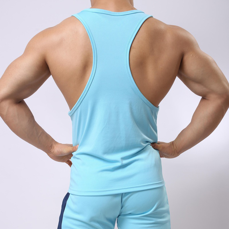Summer New Racerback Breathable Tank Tops Men Bodybuilding Clothing Gyms FitnessQuick Dry Undershirt Mens Vests Muscle Stringer