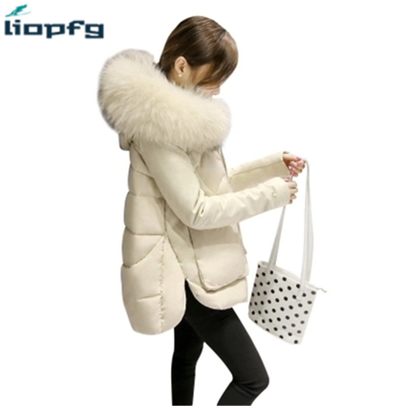 Winter Womens Down duck Large Raccoon fur collar jacket female long section thick fur collar slim Slim 2017 Christmas TP046