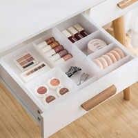 Adjustable Plastic Drawer Makeup Storage Box Desktop Cosmetic Sundries Lipstick Storage Container Case Kitchen Drawer Organizer