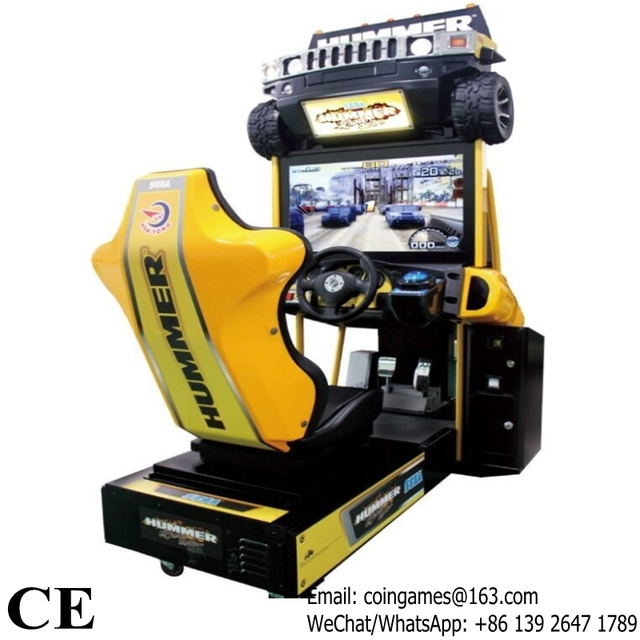 hummer simulateur de conduite jeux de course de voiture machine dans monnayeur jeux de sports et. Black Bedroom Furniture Sets. Home Design Ideas