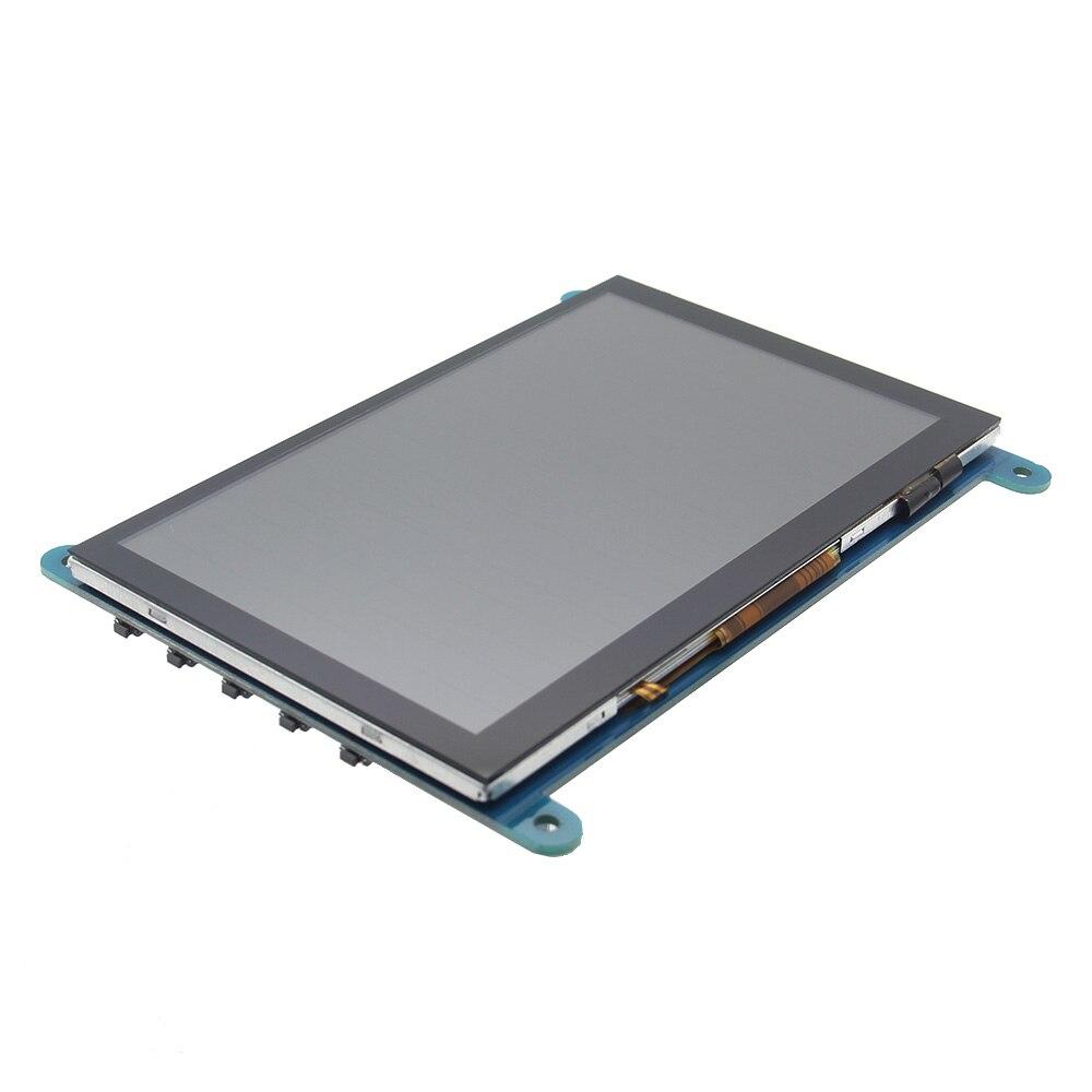 NOUVEAU 5 Pouces 800x480 HDMI Tactile Capacitif écran lcd Avec OSD Menu Pour Raspberry Pi 3 B + /BB Noir