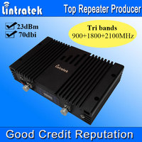 Lintratek Tri Bands Powerful LCD Signal Repeater 2G 3G 4G LTE Triple Cell Phone Signal Booster