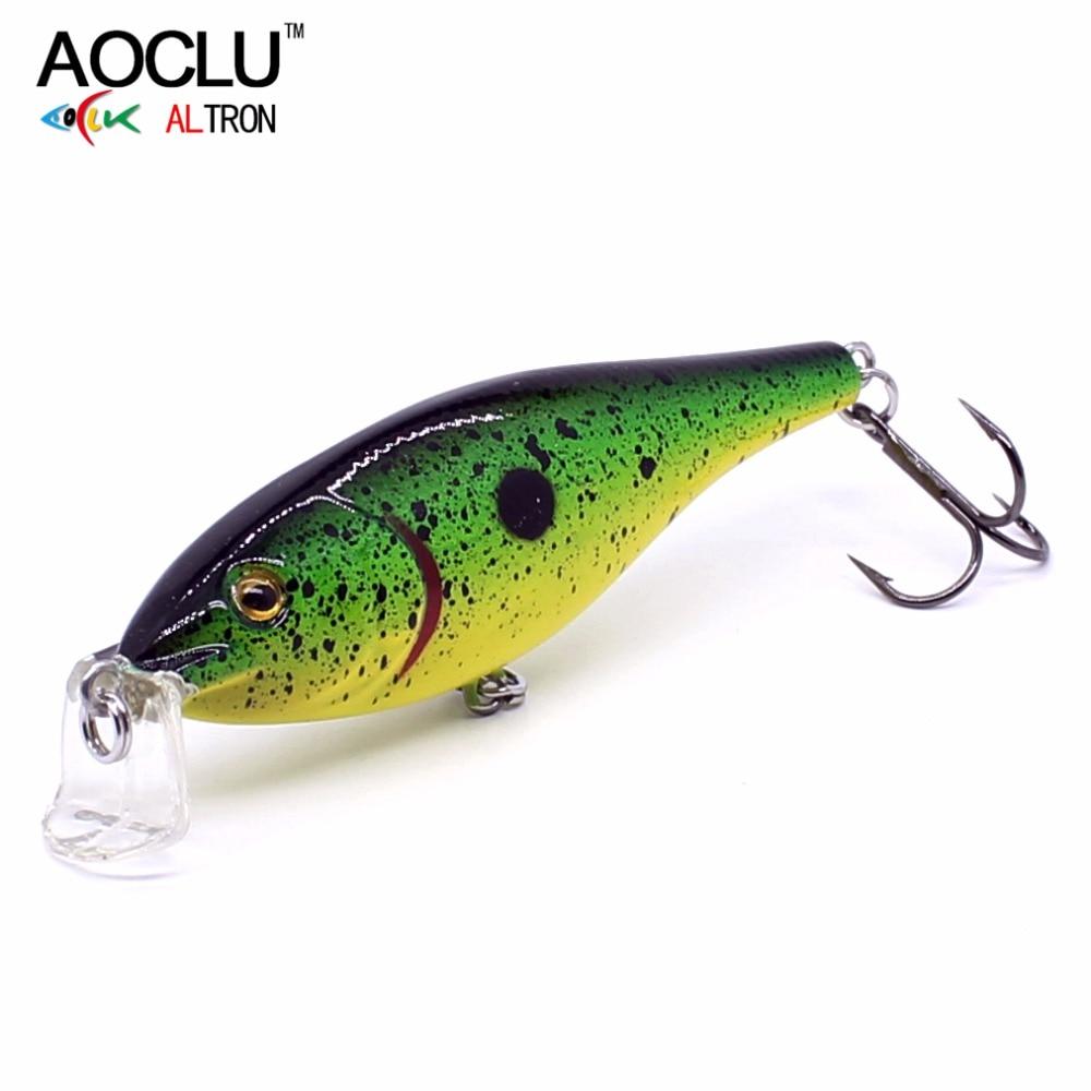 AOCLU Wobblers Floating Minnow Hard-Bait Fishing-Lure Crank-Depth Vmc-Hooks 70mm 7g 6-Colors