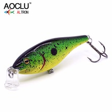 Купить с кэшбэком 2018 AOCLU new wobblers 70mm 7g Floating Hard Bait Minnow Crank Depth 1.2m-1.8m fishing lure VMC hooks 6 colors tackle Quality