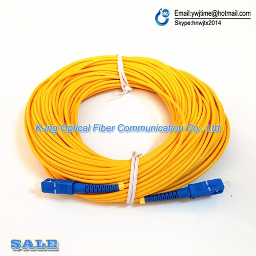 Free Shipping Optical Fiber Jumper SC-SC SM SX 3mm 30M 9/125um 30 Meters SC/UPC Fiber Optic Patch Cord in Stock ...
