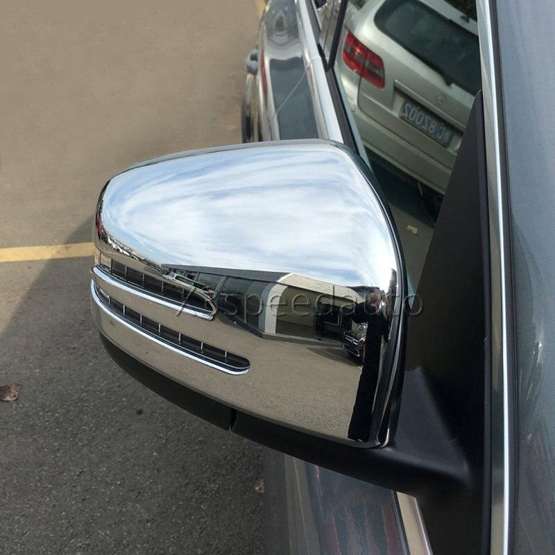 Rétroviseur Couverture 2 pcs Pour Mercedes-Benz GLE Classe ML W166 X166 GL Chrome Voiture de coiffure