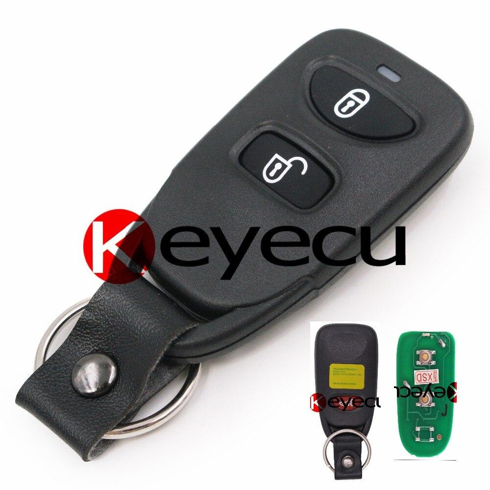 Transmitter Keyless Entry Remote Key Fob 433MHz 2 1 Button for Kia Sorento Rio