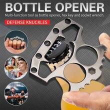 Stainless Steel Beer Opener Bar Tools Double Finger Knuckle Self Defense Beer Bottle Opener Bar Tool кастет для самообороны худи print bar lost beer