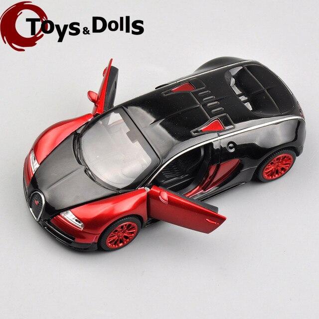 Новый Дизайн Коллекционная Модель Автомобиля Bugatti Veyron Модель Автомобиля 1:32 сплав Литья Под Давлением Мини Модели Автомобилей Электронные Автомобиль С Светом и звук