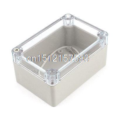Clear Cover Waterproof Sealed Electronic Case Junction Box 100 x 67 x 50mm surface mounted plastic sealed electric junction box case 230x126x80mm