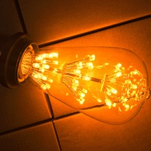 10Pack 3W ST64 LED Filament Bulb E27 Yellow Warm Edison Light Bulbs 2200K Squirrel Cage Vintage Style Fireworks Romantic Color