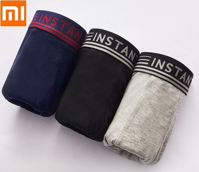 Youpin Instant me Man breathable cool boxer briefs 3PCS  Comfortable refreshing Sexy Underpants Men Panties Underwear Shorts