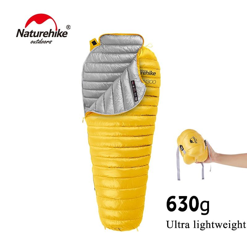 630g CW300 Ultralight Warm Sleeping Bag White Goose Down Sleeping Bag Adults Backpacking Camping Mummy Sleep