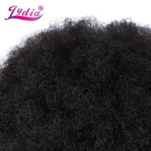 Image 5 - Lydia 16 Inch Afro Kinky Krullend Synthetische Pruiken Kanekalon Hittebestendige Afro amerikaanse Cosplay Daily Hair Pruik