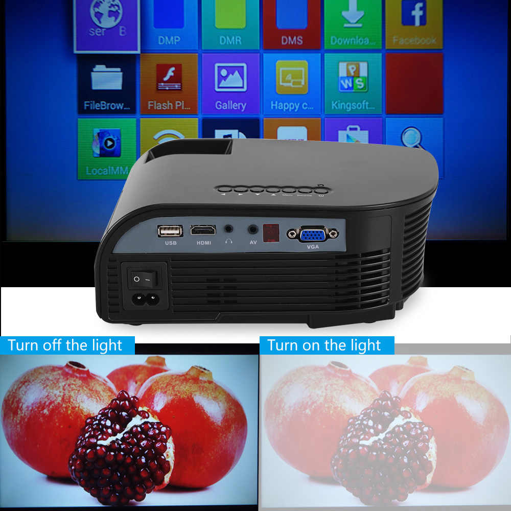 Rigal проектор RD805B 1200 люмен светодиодный мини WiFi проектор 1080P 3D проектор Видео Домашний кинотеатр HDMI USB VGA AV Android проектор
