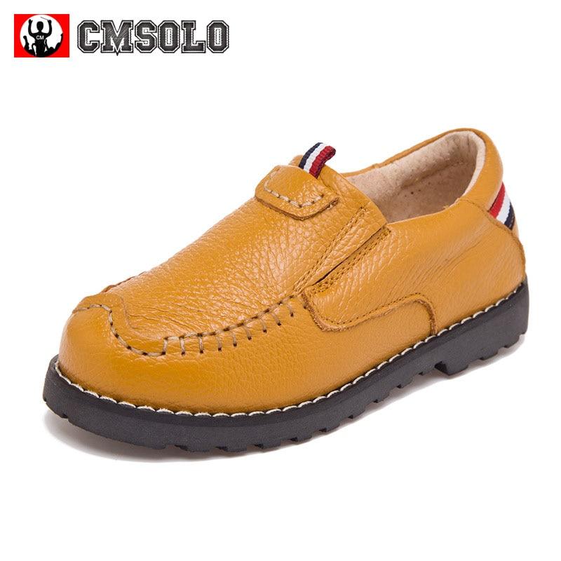 CMSOLO Jungen Schuhe 2018 Kinder Casual Jungen Mädchen Weiche Echtes Leder Schuhe Kinder Turnschuhe Marke Kinder Jungen Turnschuhe Laufen