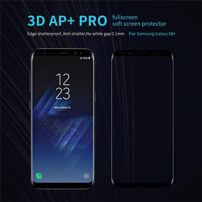 bilder für NILLKIN Erstaunlich AP + Pro 9 H 3D Full Cover Displayschutzfolie Für Samsung Galaxy S8 G950F S8 Plus G955F Dual Sim Gehärtetem Glas