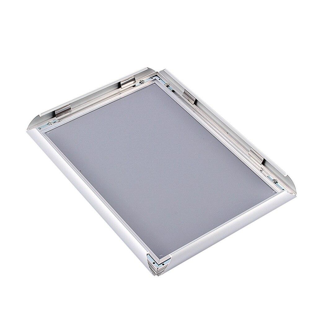 1 unid A4 plata soporte del cartel marcos rápidos clip de aluminio ...
