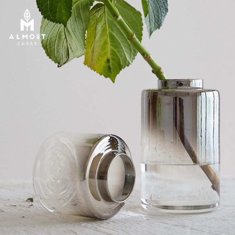 Silver Grey Changing Color Glass Vases Wholesale Art Design Idea