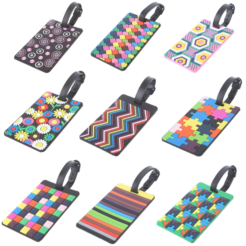 THINKTHENDO Travel Luggage Tags Cute Labels Strap Name Address ID Suitcase Bag Baggage Secure Hot Travel Accessories thinkthendo new travel luggage tags labels strap name address id suitcase bag baggage secure