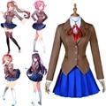 Juego Doki literatura Club Cosplay Sayori Yuri Natsuki Monika uniforme  escolar traje para mujer fiesta de 6613c8194a92
