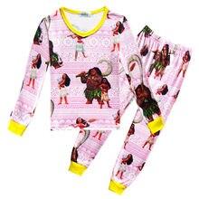 2f7a67cc88de4 Moana filles enfants pyjamas océan Romance filles pyjama costumes enfant  maison ensemble de vêtements de nuit
