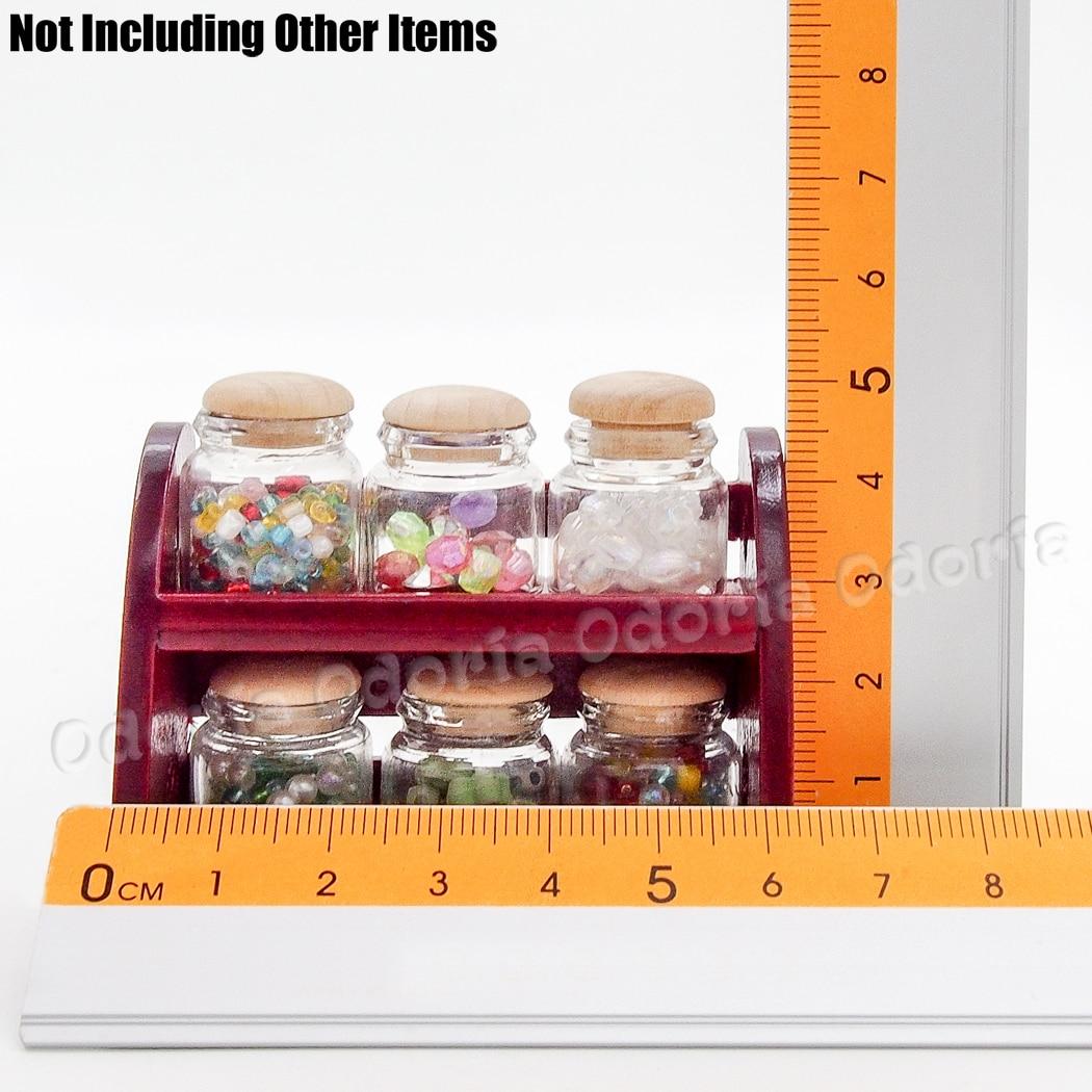 Wooden Dollhouse Accessories Dollhouse Spice Shelf 1:12 Furniture Wall Shelf