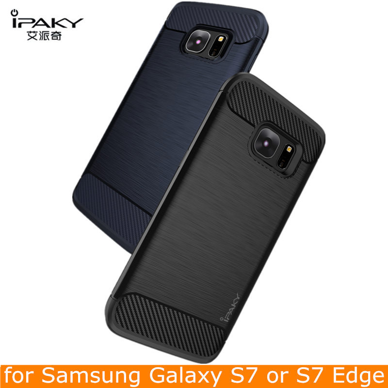 online store da11a bb711 US $4.99 |Original IPAKY For Samsung Galaxy S7 Edge Case Silicone TPU Case  Carbon Fiber Hybrid Armor For Samsung Galaxy S7 Cover Protector on ...