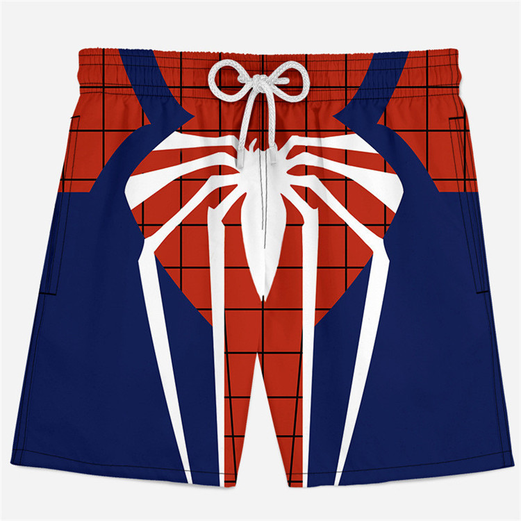 Summer Shorts Underpants Spiderman Elastic-Waist Xs-4xlbodys Men's Casual 3D Cosplay